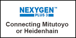How do I connect my Mitutoyo or Heidenhain input device to NEXYGENPlus