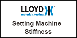 How do I set machines stiffness on Plus Series test machines